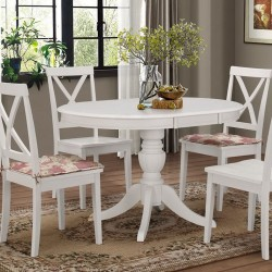 Стол белый обеденный раздвижной «Беатриче нью» (Beatrice new) (Белый)